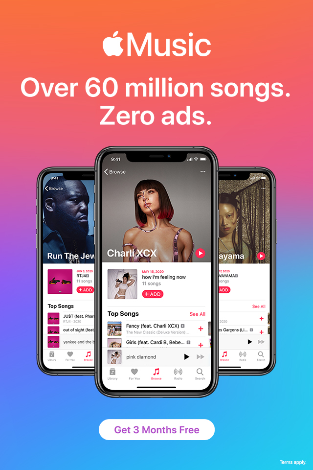 Does apple music have ads