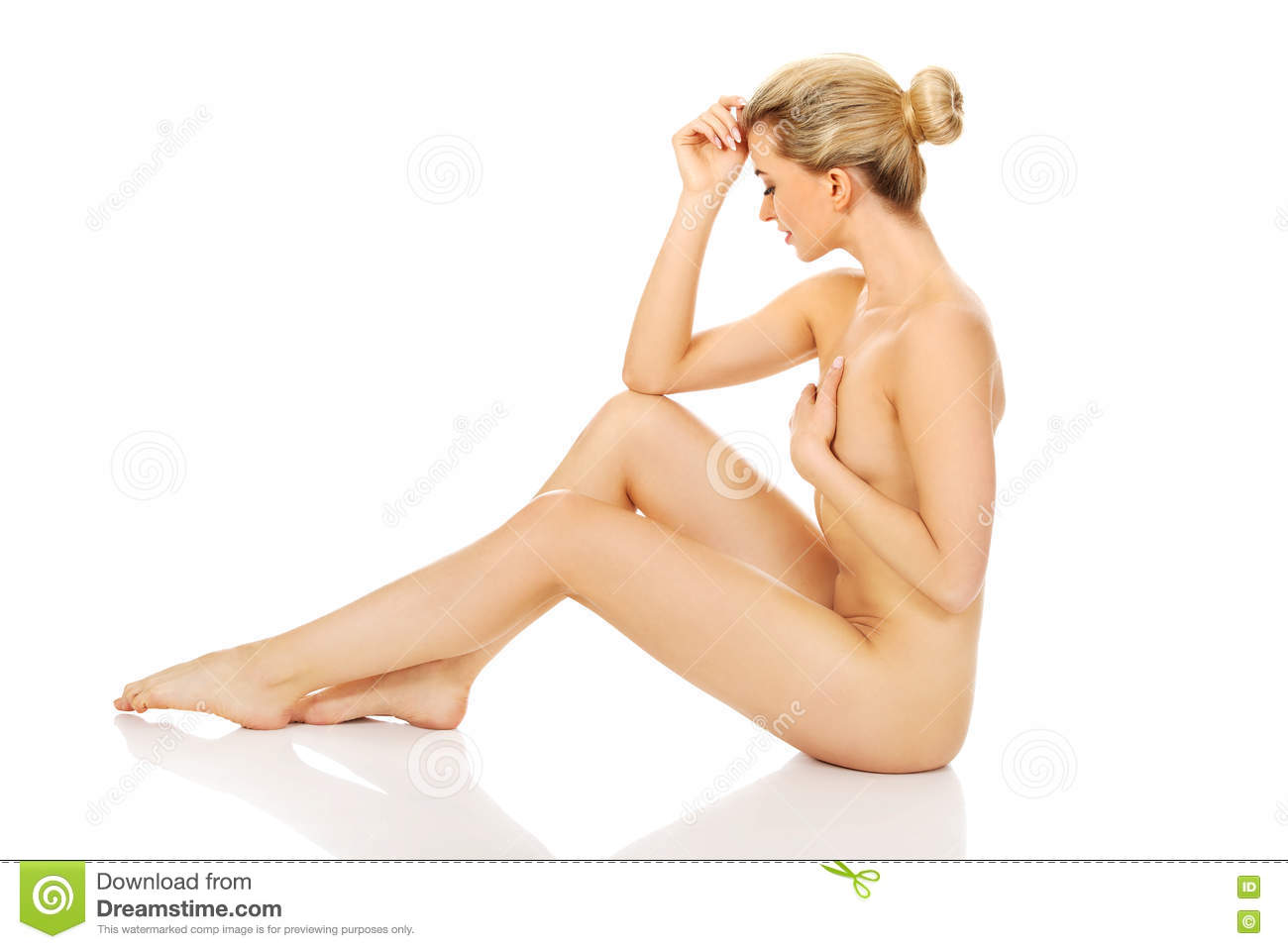 Naked woman sitting his face