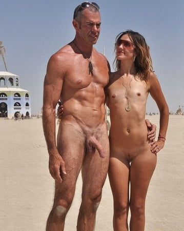 Nude couple erected privat